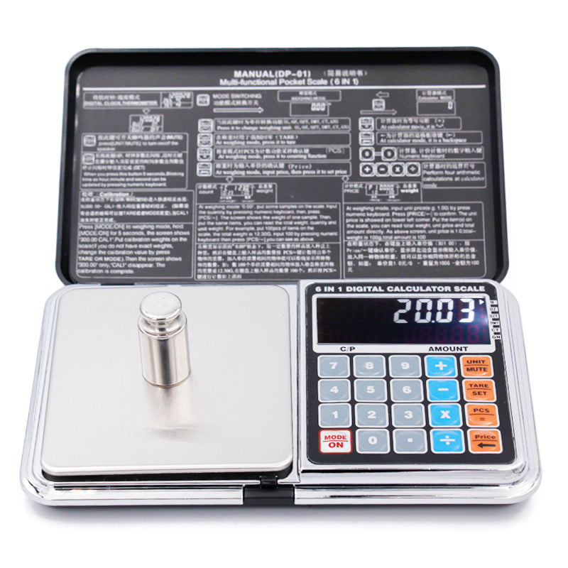 5pcs Digital Pocket scale 500g 0.01g electronic Palm Calculator weighing balance sterling silver jewelry LED display backlight