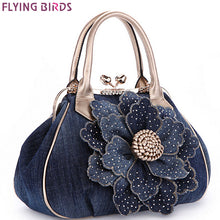 FLYING BIRDS Designer Women Handbag Vintage Flower Women's Tote Women Messenger Bags Ladies Purse Shoulder Bag Bolsas LM3361