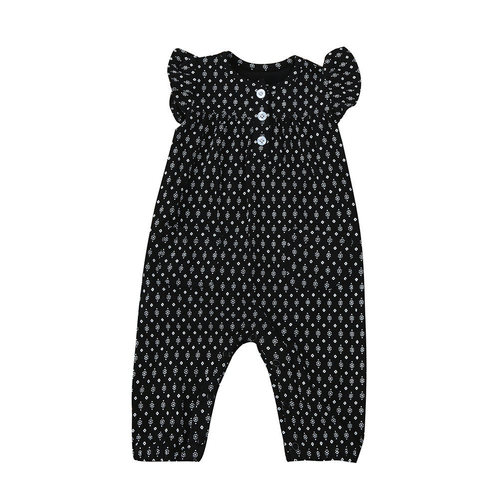 1-5 years Baby girls romper Toddler Infant Baby Girls Print Sleeveless Clothes Romper Jumpsuit Playsuit drop shipping