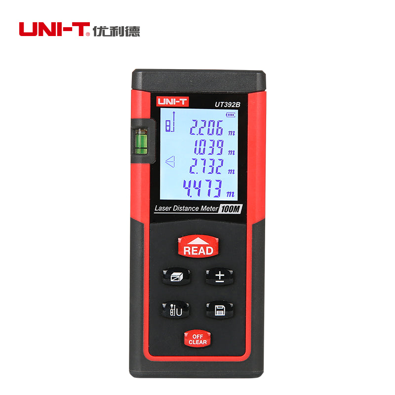 UNI-T UT392B Laser Distance Meter 100M Laser Rangefinder Area & Volume Calculation Tool with level bubble