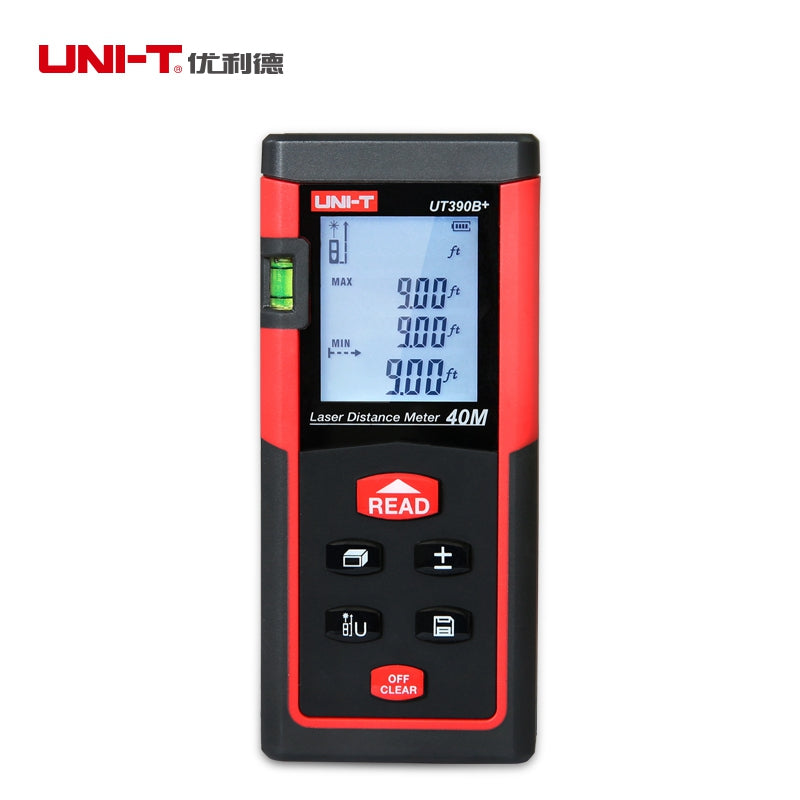 UNI-T UT390B+ Portable Laser Rangefinder 40M Laser Distance Meter Tester Range Finder M/in/ft Area/Volume Calculation