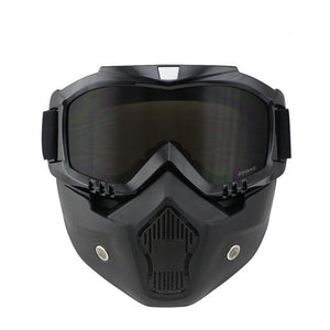 Motorcycle Goggles Tinted UV Stripe Motocross Goggle Bike Cross Country Flexible face mask skull Motorcycle Goggles