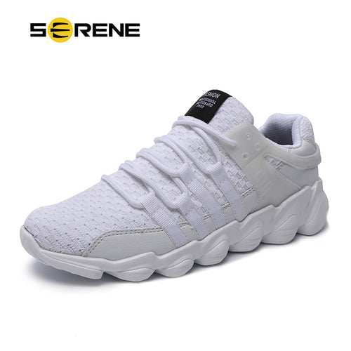 SERENE Brand Men Fashion Shoes Big Size 39-46 Comfortable Super Light Soft Walking Footwear Mesh Breathable Male Casual Shoes