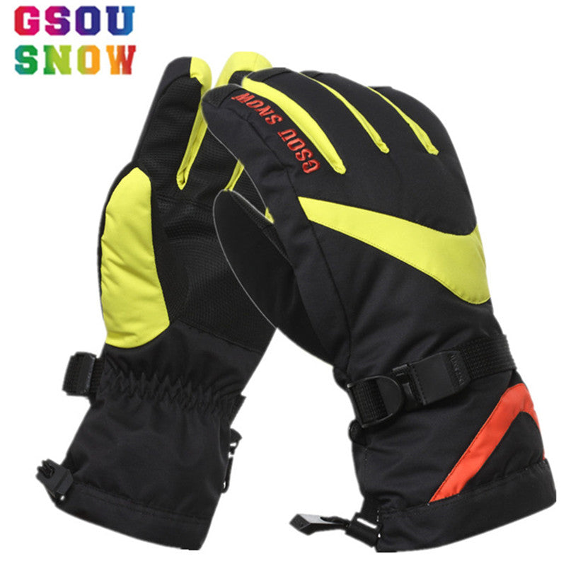 d5f212ac3 ... GSOU SNOW Winter Ski Gloves Men Women Colorful Warmth Camouflage Snowboard  Gloves -30 Degree Outdoor ...