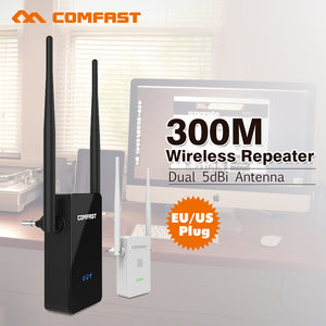 Comfast CF-WR302SV2 Long Range Wireless Wifi Repeaters 802.11N/B/G Network Wi-fi Router Expander 300M Wi fi Signal Amplifier AP