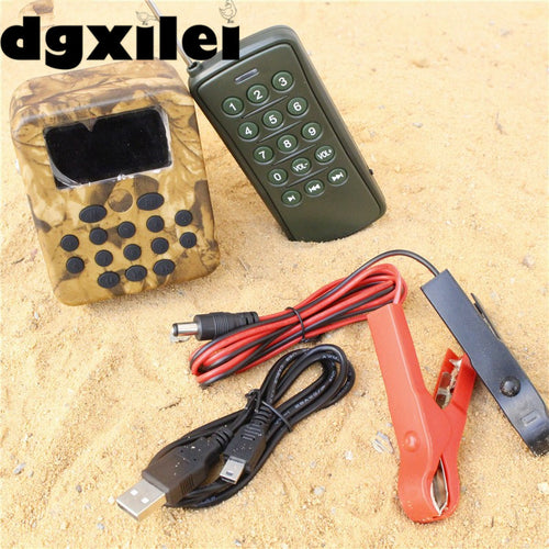 Remote Control Electronics Hunting Bird Caller MP3 Player Speaker Bird Decoy Sound Song Machine For Outdoor Hunting