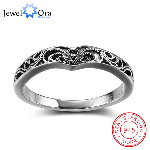 Bohemia Style Fashion Victorian Solid 925 Sterling Silver Jewelry Women Rings For Party Gift for Woman(JewelOra RI102351)