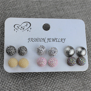 New hot, popular gorgeous women jewelry wholesale, girls birthday party beautiful, 6 pairs of /set earrings, free shipping