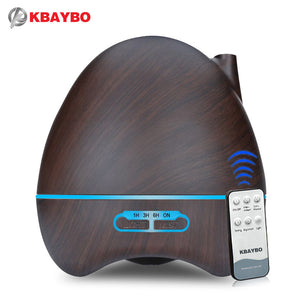 500ml Aroma Essential Oil Diffuser Ultrasonic Air Humidifier 7 Color Changing LED lamp Whole House Remote Control