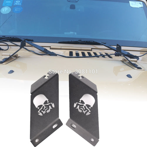 For Jeep JK wrangler 2007-2015 20 inch straight led light bar Mount Brackets Kit steel vehicle