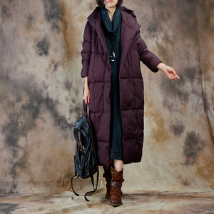 Johnature Women Down Coat Hooded Vintage Thick Warm Winter Women Clothing 2017 New Long Sleeve High Quality Down X-Long Coats