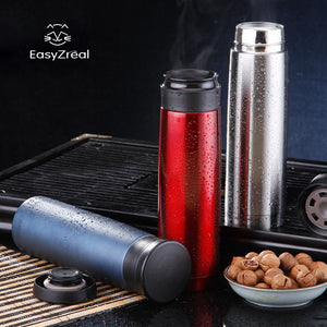 500ml stainless steel Vacuum Woman men Black Water Bottle frosted Thermos Mug Car Coffee male flask Insulation Thermal Cup Gifts