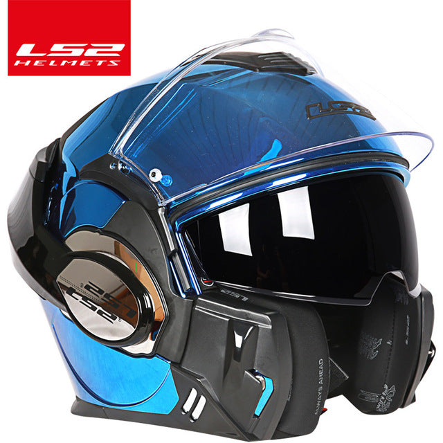 2017 new Valiant LS2 FF399 full face motorcycle helmet flip up dual visor authentic wear glasses design ECE cascos de moto helm
