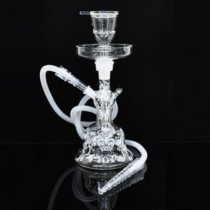 New avrrielAl Fakher Glass hookah Shisha with hookah hose bowl Hookah Nargile Hottest Smoking Hookah Pipe with bubble foam box