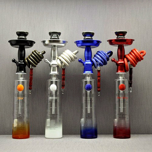 New Arrival Wine Bottle Hookah Stem Kit  HOOKITUP  Aluminum Hookah Shisha Stem Complete Set With Bowl And Hose