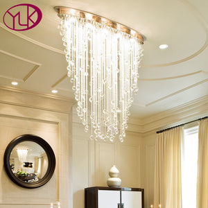 Youlaike Modern Crystal Chandelier Oval Design Dining Living Room Chandeliers Lighting Fixtures Luxury Home Lamps