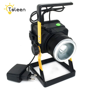 TSLEEN 3.7V IP65 Zoomable LED Flood Light XM-L T6 3 Modes Rechargeable LED Floodlight Spotlight Fishing Lamp For Camping Hunting