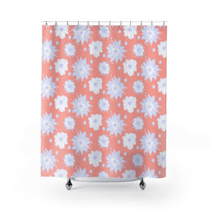Pink Flower Shower Curtains