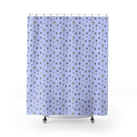 Blue Flowers - Shower Curtains