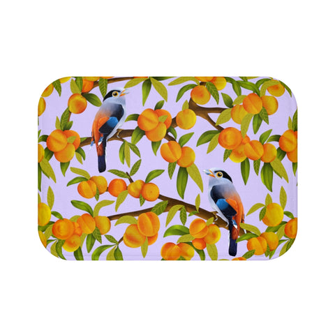 Purple Peach Tree Bath Mat