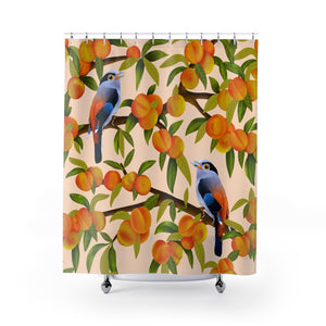 Peach Tree Shower Curtains