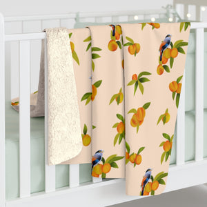Peach Sherpa Fleece Blanket