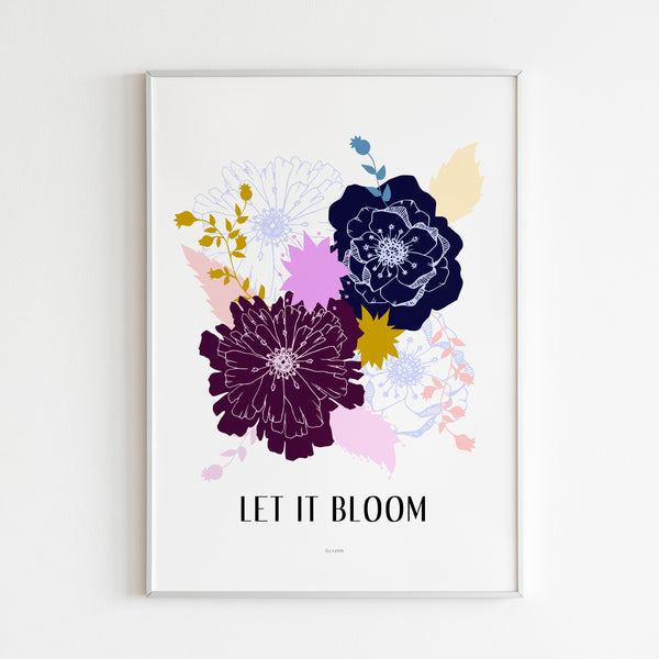Premium Matte vertical posters - Abstract Flowers