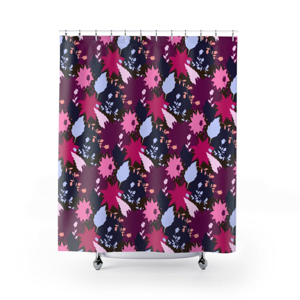 Abstract Flowers Shower Curtains