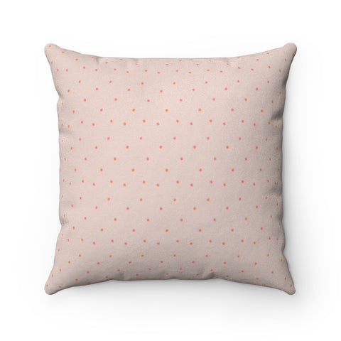 Faux Suede Square Pillow - dots
