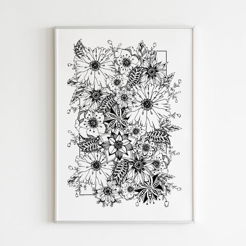 Premium Matte vertical posters - Flower Blossom