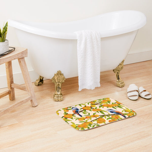 Peach Tree Bath Mat