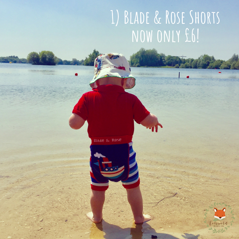 Summer Sale blade and rose shorts - Cotswold Baby Co