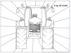 Farmer_Christmas_Red_Tractor_Colouring_Sheet