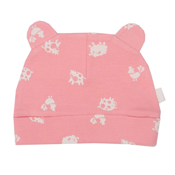Pink Polka Farm Baby Hat by Kite Clothing | Cotswold Baby Co