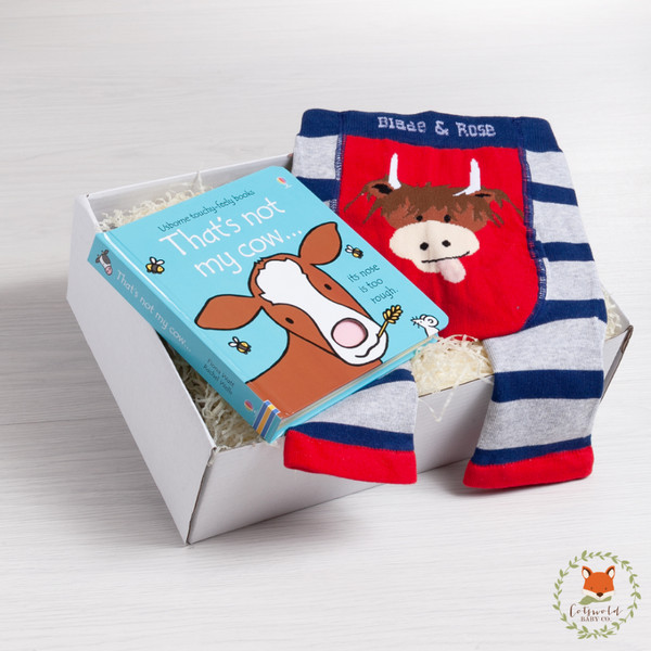 Little Cow Book & Legging Gift Set | Cotswold Baby Co