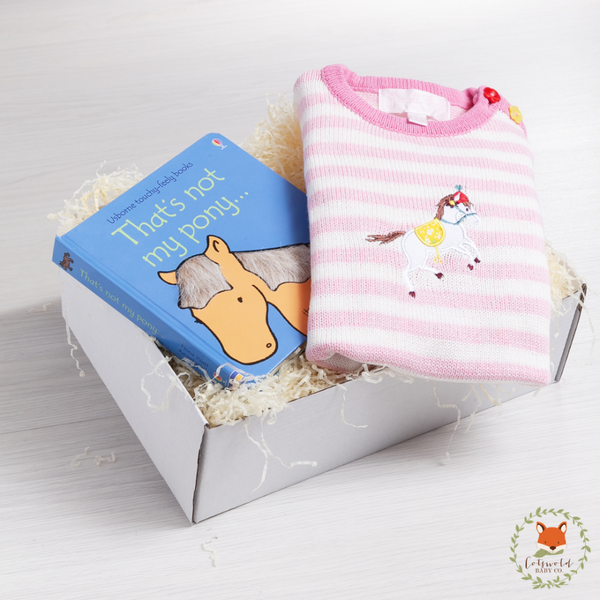 Pony Knitted Playsuit Gift Set | Cotswold Baby Co