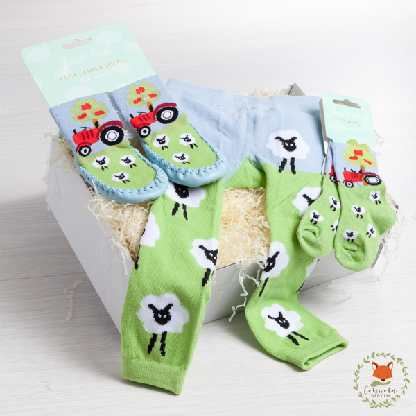 Sheep Leggings, Socks and Slippers Gift Set | Cotswold Baby Co