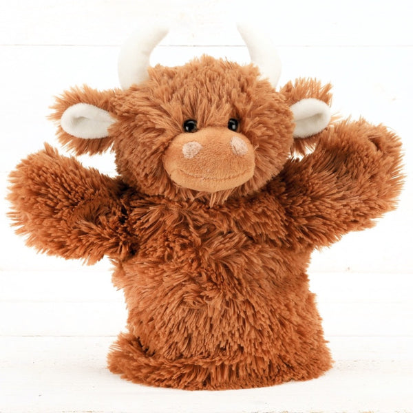 Highland Cow Kids Hand Puppet by Jomanda | Cotswold Baby Co