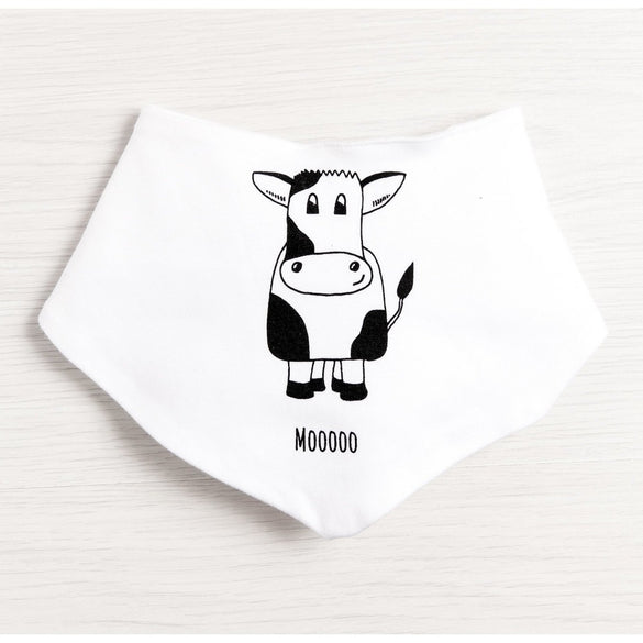 Moooo Cow Bib - Cotswold Baby Co