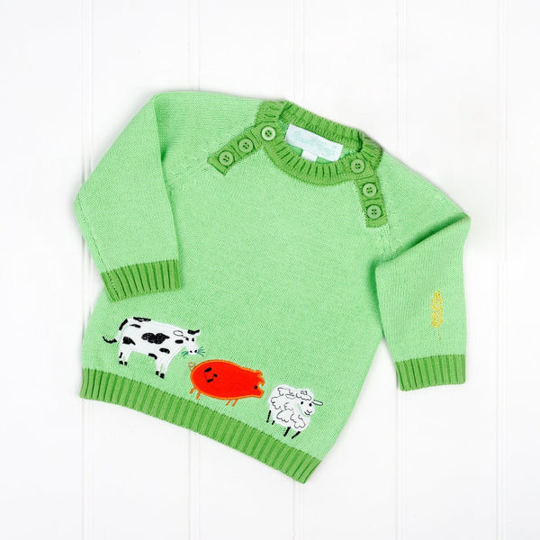 down at the farm crew neck jumper, Powell craft