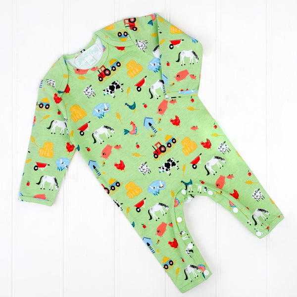 Down on the Farm Sleepsuit by Powell Craft