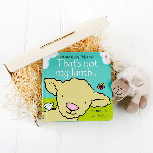 that's not my lamb book, little lamb cuddly toy and white gift box | Cotswold baby Co
