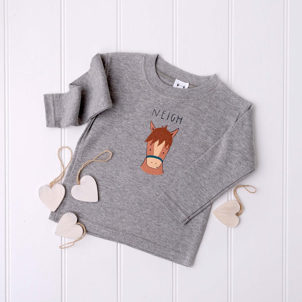 Cheeky Horse Long Sleeved T-Shirt