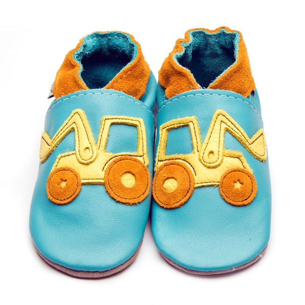 Turquoise Digger Leather Shoes by Inch Blue