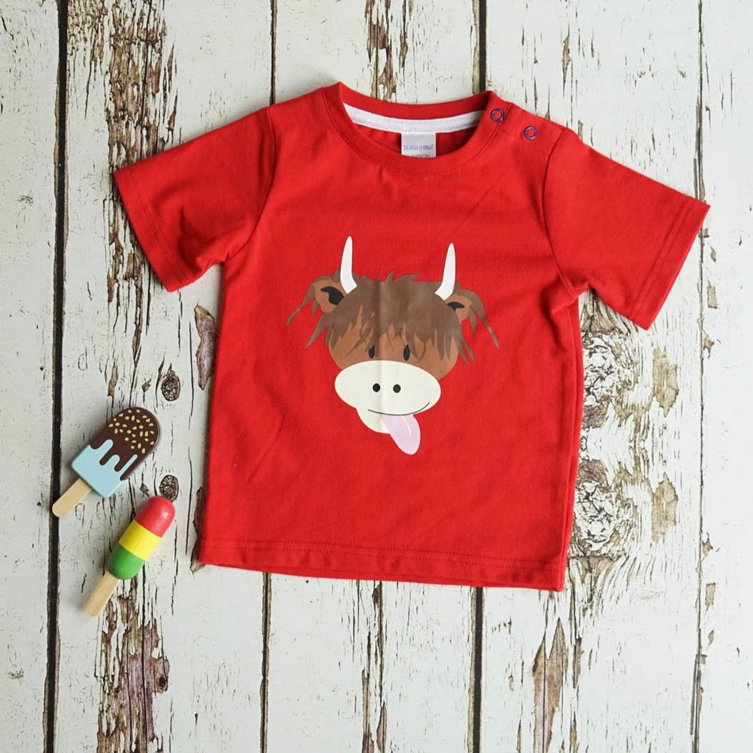 HIGHLAND COW SUMMER T-SHIRT BY BLADE & ROSE