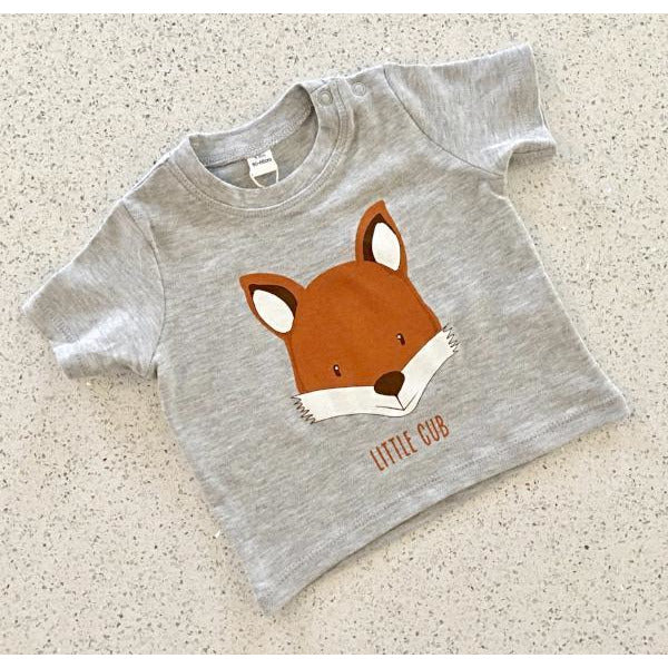 little cub fox tshirt by Cotswold Baby Co
