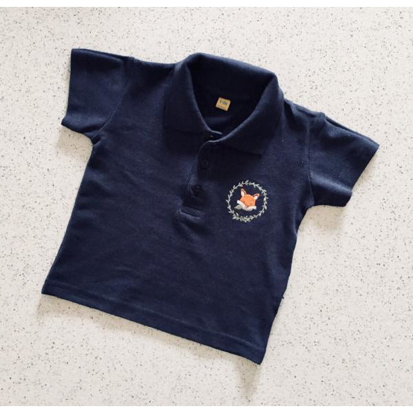 Bertie Fox Navy Polo Shirt by Cotswold Baby Co