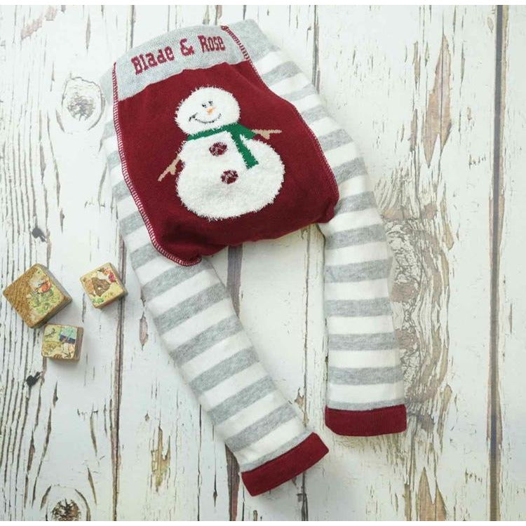 Fluffy Snowman Leggings by Blade and Rose - Cotswold Baby Co