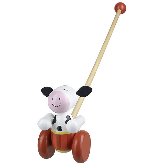 Cow Push Along Wooden Toy