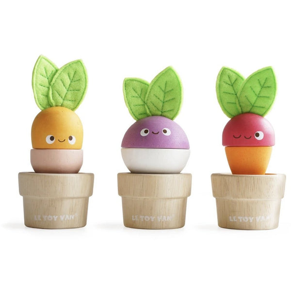 Le Toy Van - Petilou Wooden 'Stacking Veggies'